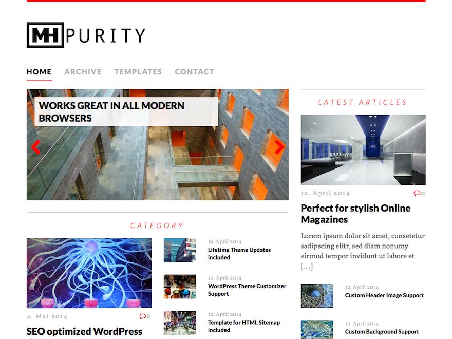 Тема для WordPress MH Purity Lite