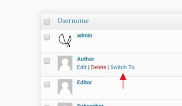 Плагин User Switching для WordPress