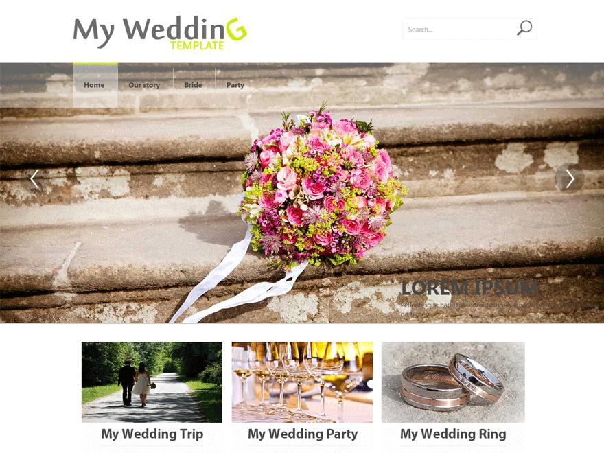 Бесплатная тема Weddings