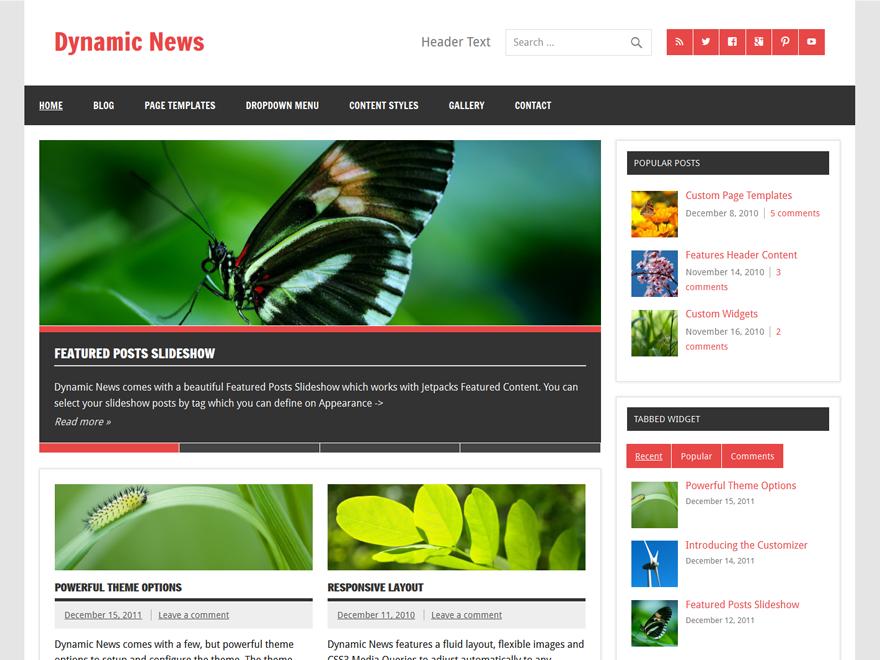 Журнальная тема Dynamic News Lite