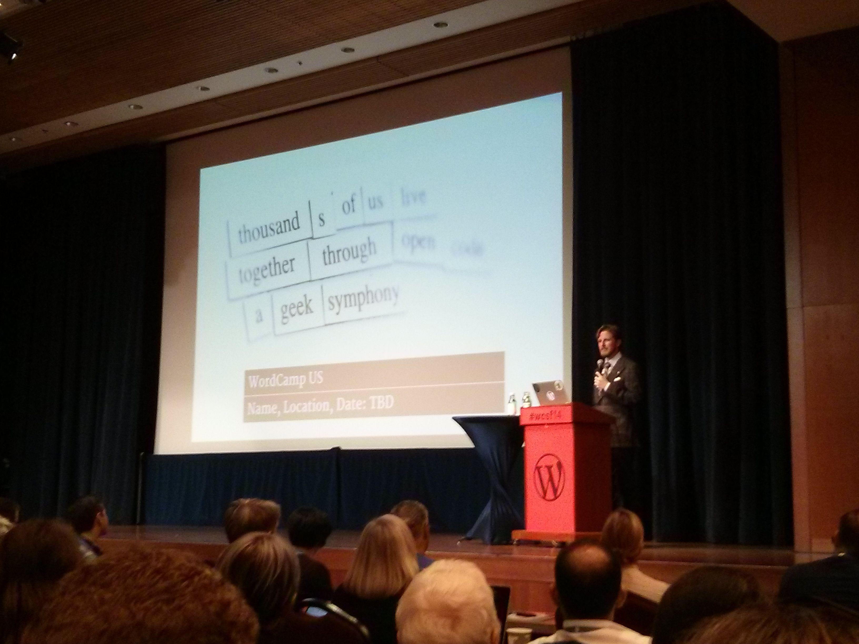 Мэтт Мулленвег на WordCamp San Frascinco 2014