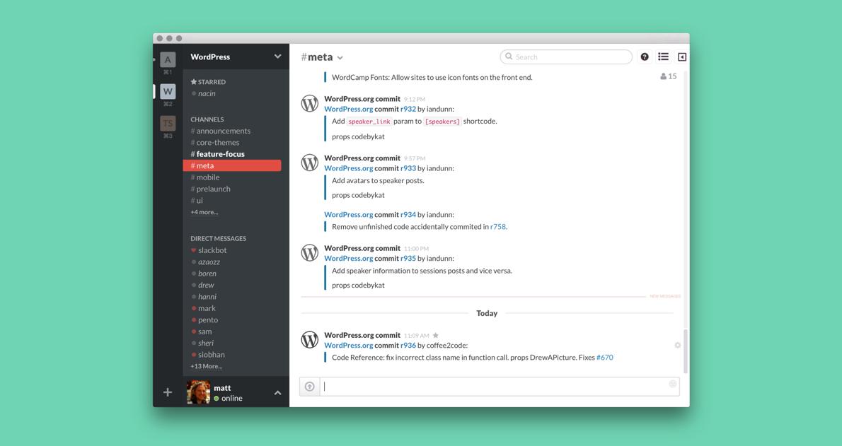 Slack для разработчиков WordPress