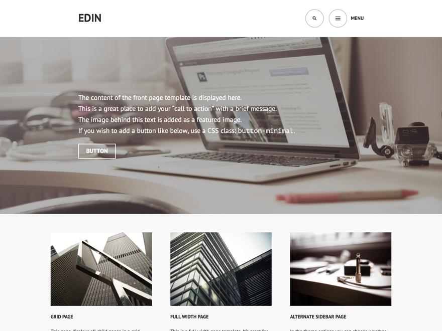 Тема для WordPress Edin