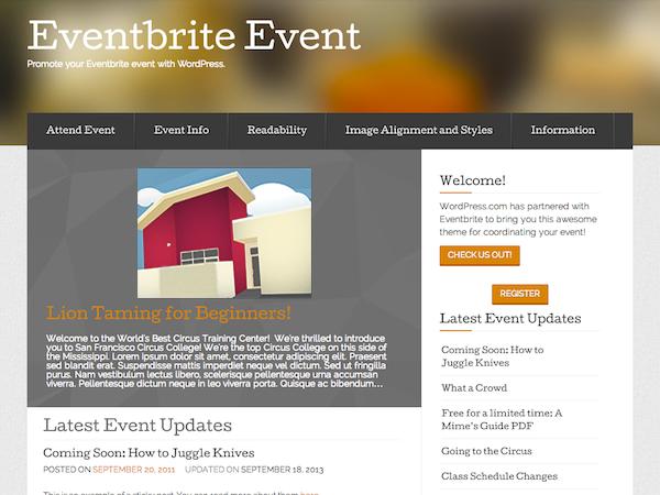 Тема Event от Eventbrite