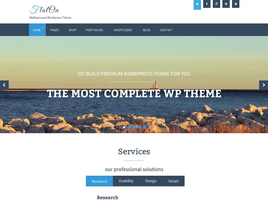 Тема для WordPress FlatOn
