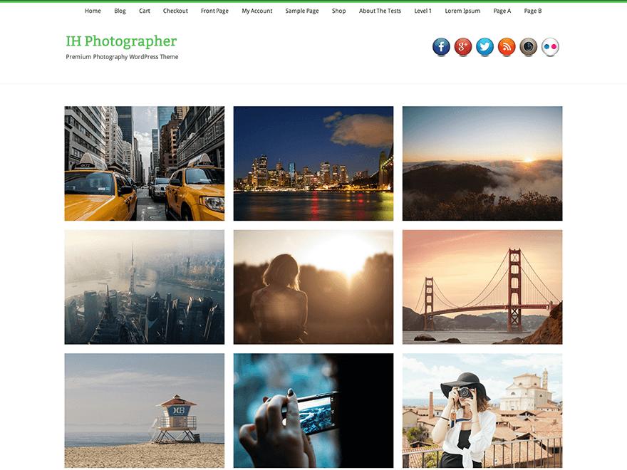 Тема IH Photographer