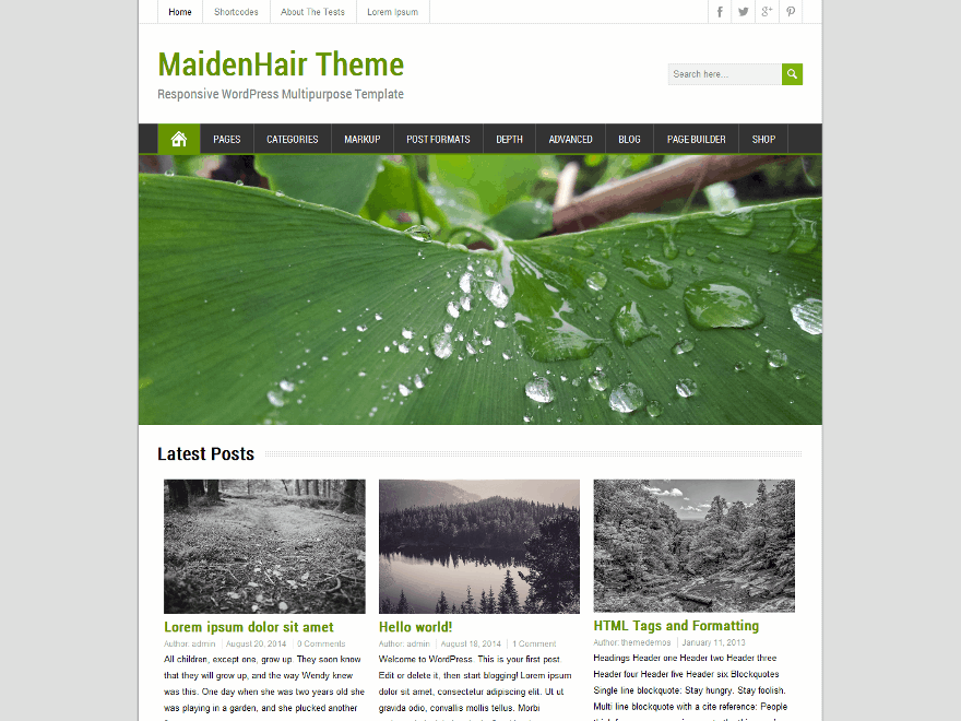 Тема MaidenHair