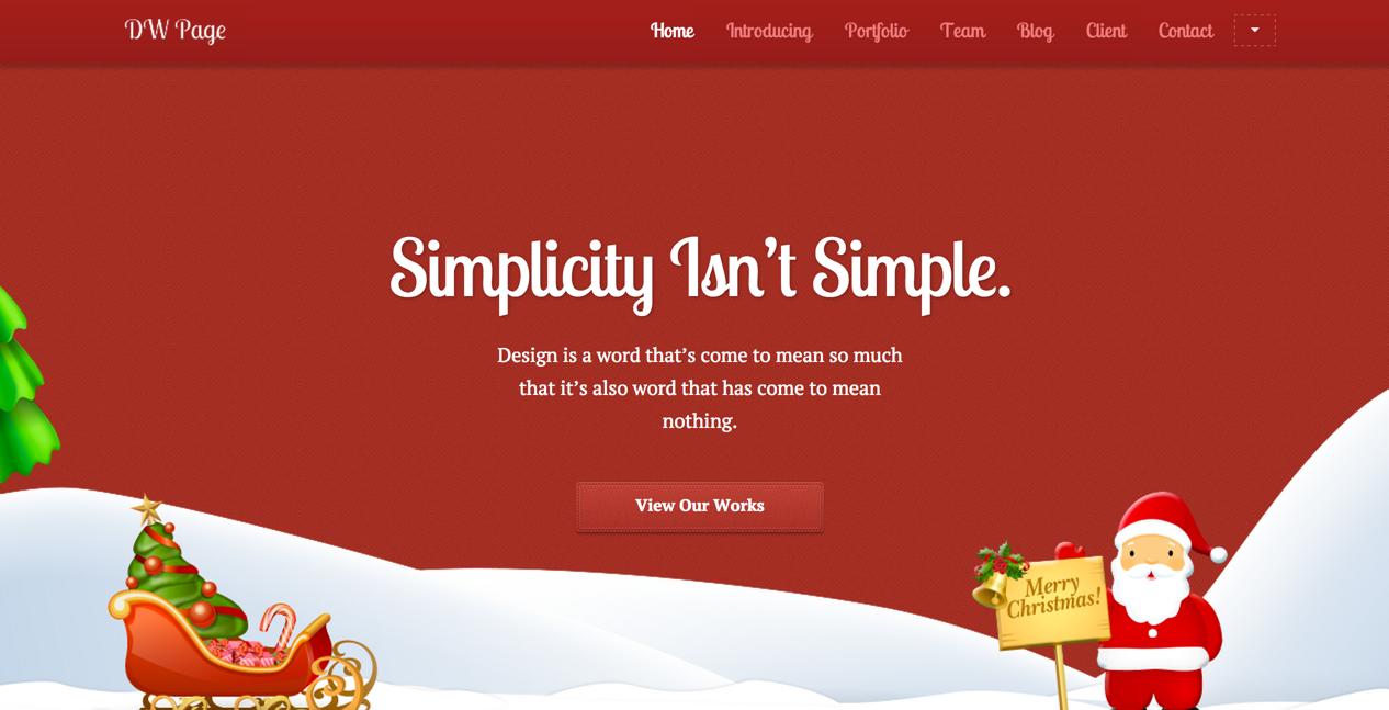 Одностраничная тема One Page Christmas