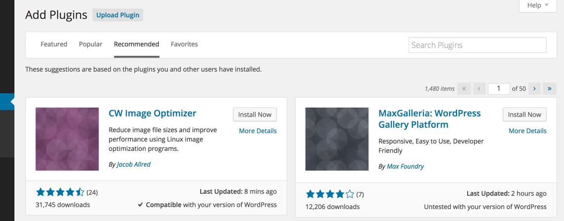 Рекомендованные плагины в WordPress 4.1
