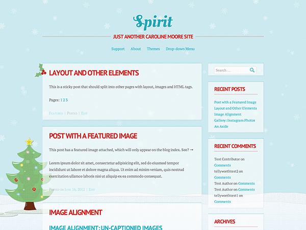 Тема для WordPress Spirit