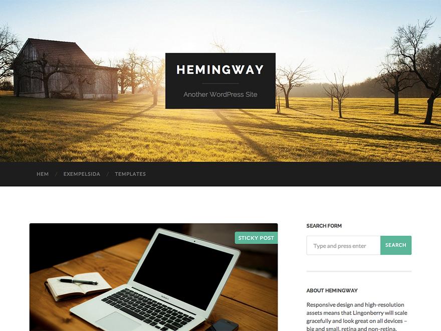 Блоговая тема Hemingway