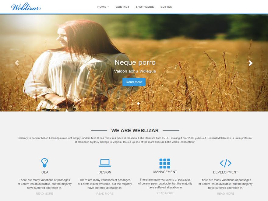 Тема для WordPress Weblizar