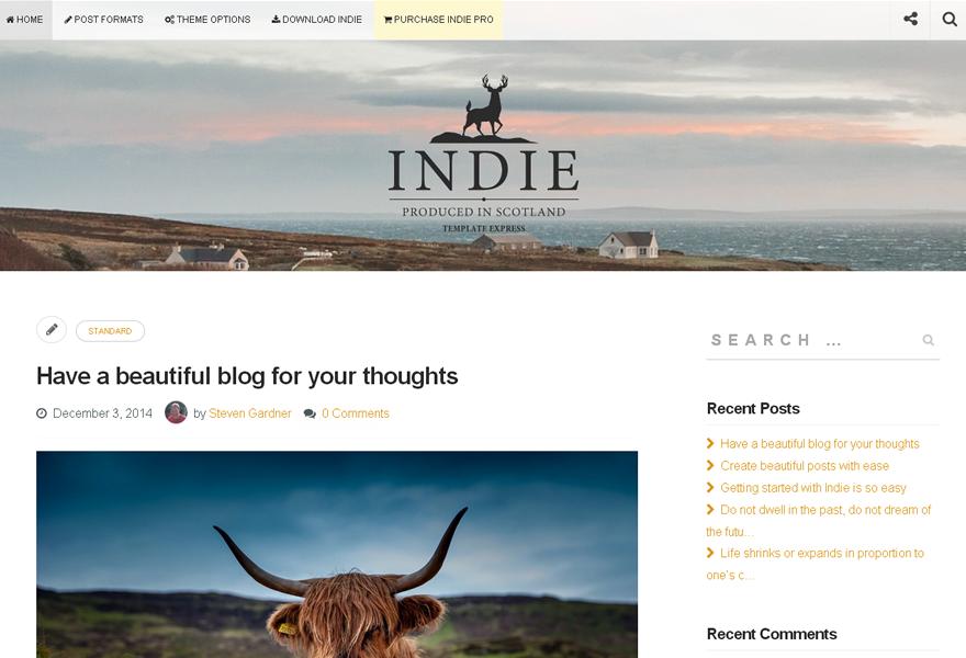 Блоговая тема Indie