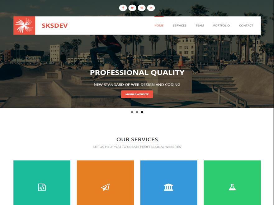 WordPress тема Sksdev
