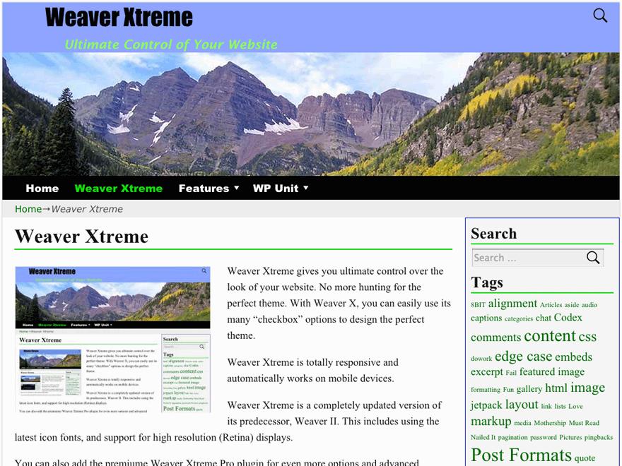 Тема для WordPress Weaver Xtreme