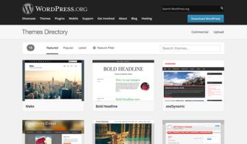 Новый дизайн для директории тем WordPress.org