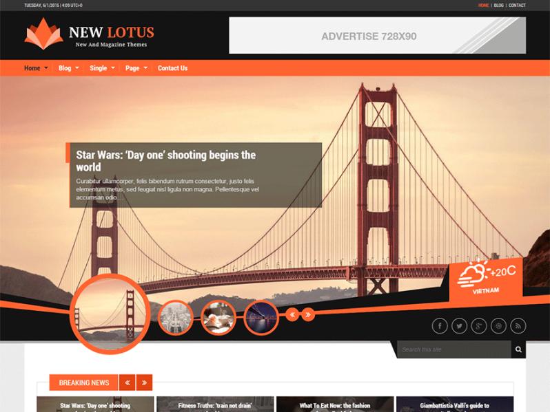 Тема для WordPress New Lotus
