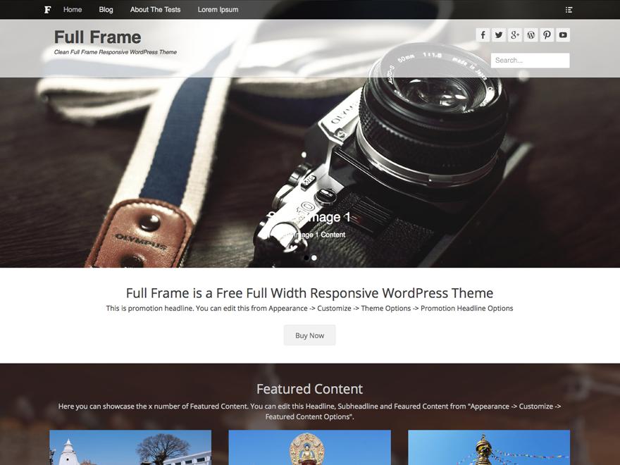 Тема для фотографов Full Frame