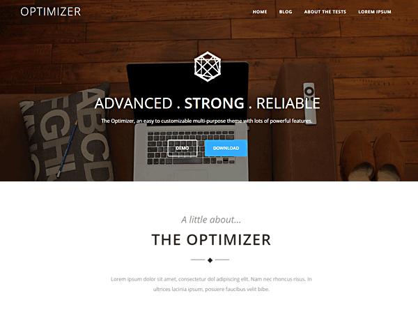 Тема для WordPress Optimizer