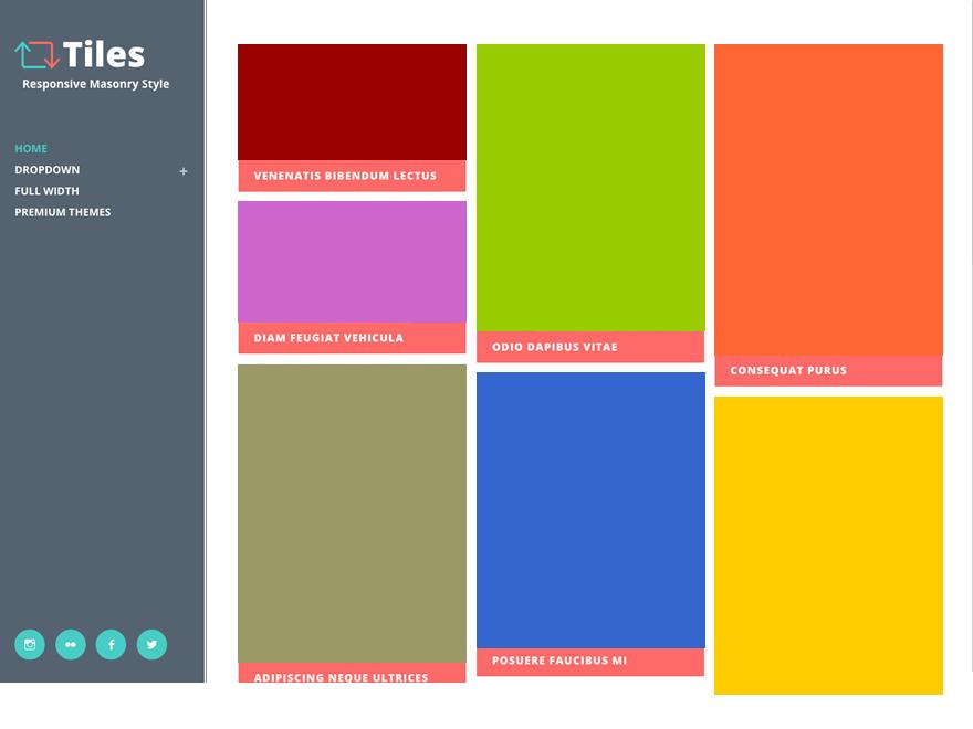 Тема для WordPress Tiles
