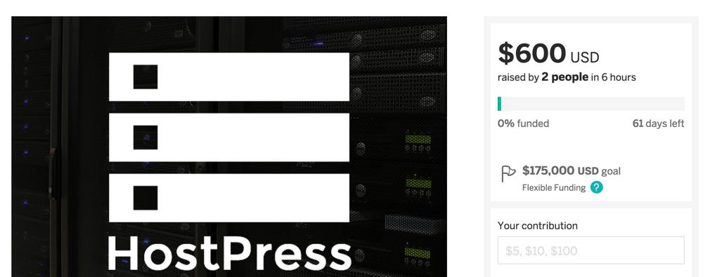 Проект HostPress на Indiegogo