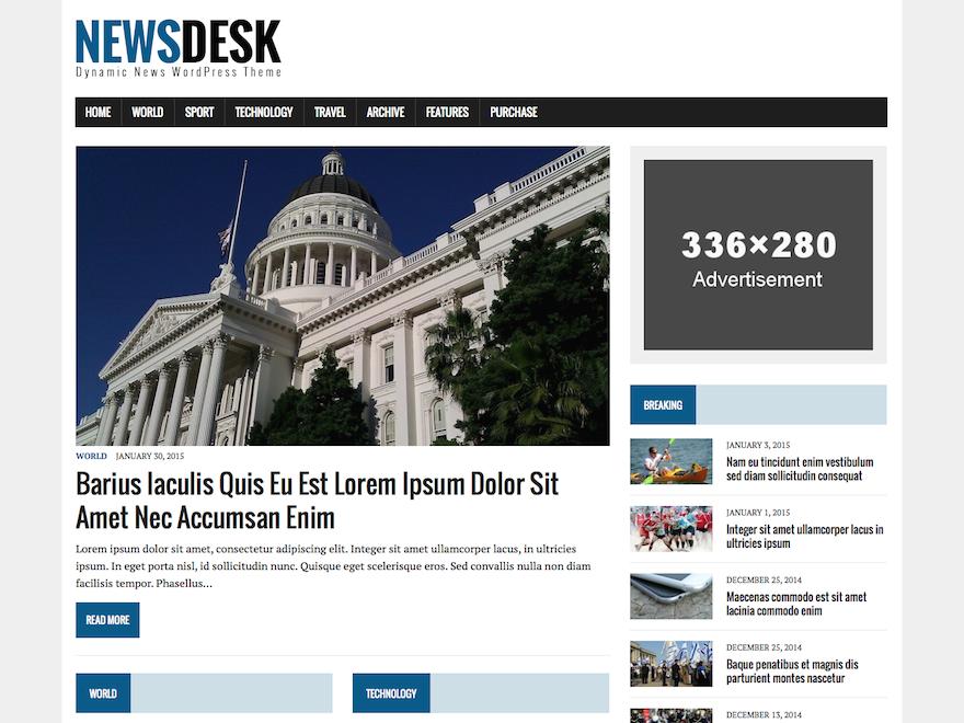 Журнальная тема Newsdesk Lite