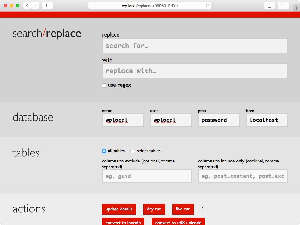 Поиск с заменой в базе данных WordPress