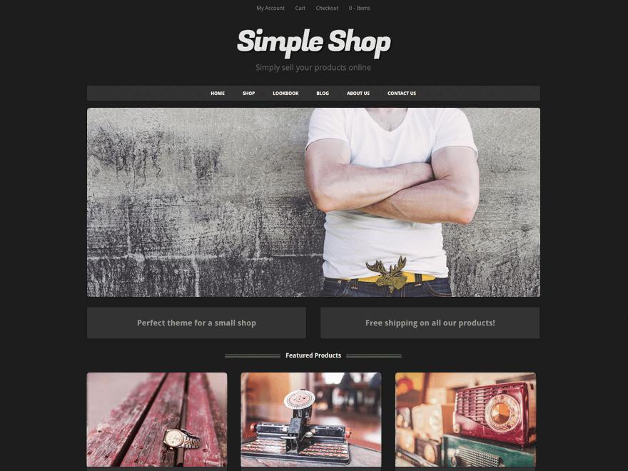 Тема Simple Shop для WooCommerce