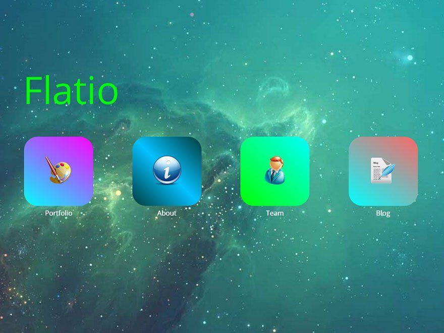 Тема в стиле iOS Flatio