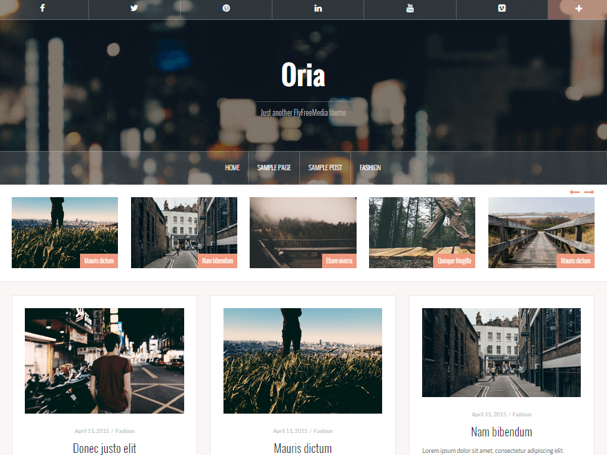 Тема Oria