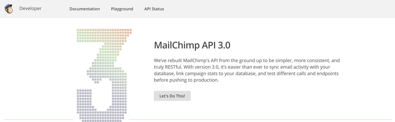 Сайт MailChimp Developer
