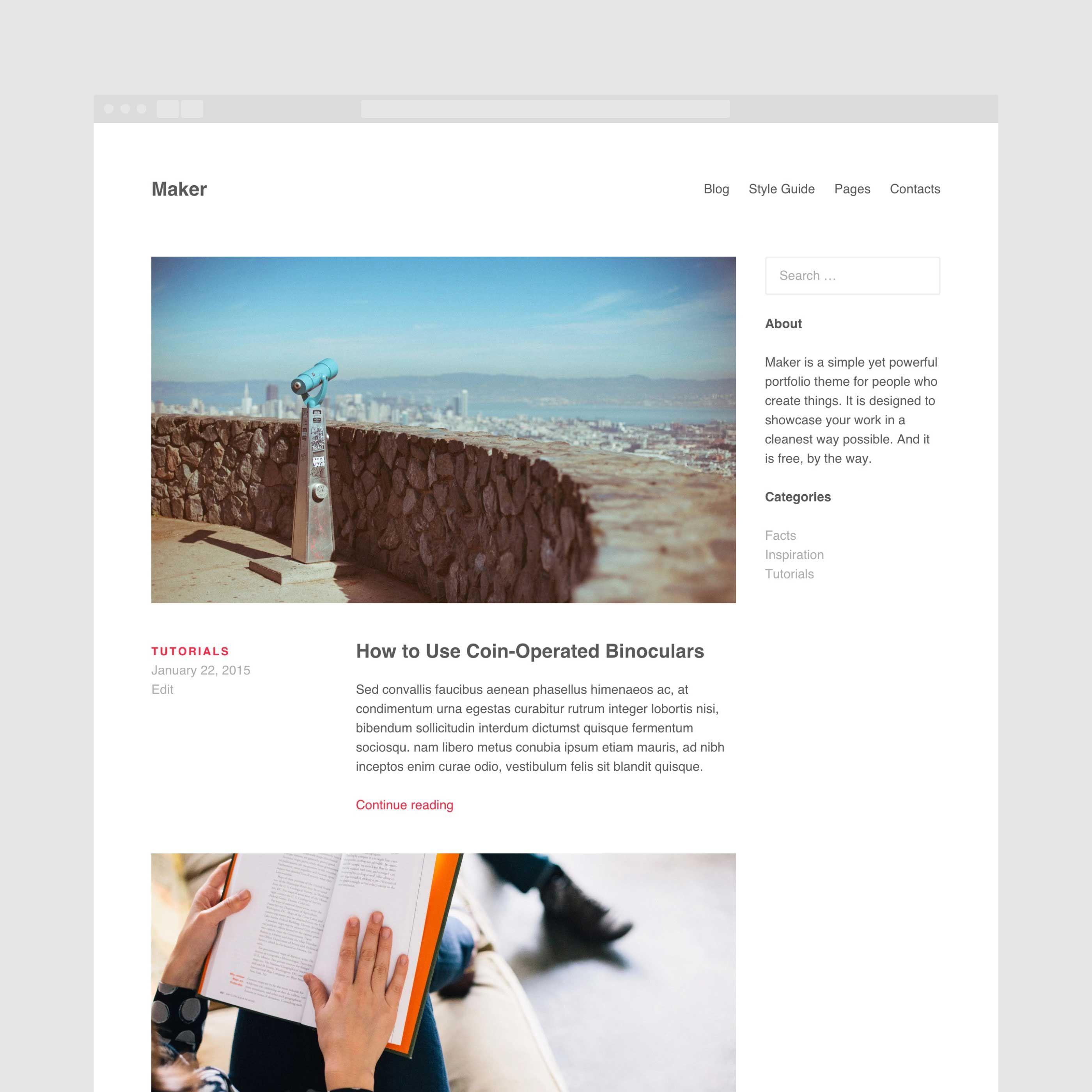 Блог или новости в теме Maker