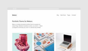 Тема-портфолио для WordPress Maker