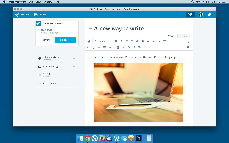 Десктоп-приложение WordPress.com