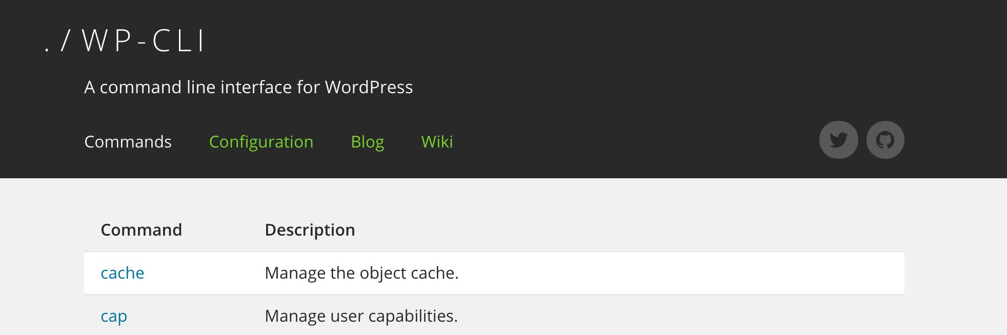 Сайт проекта WP-CLI
