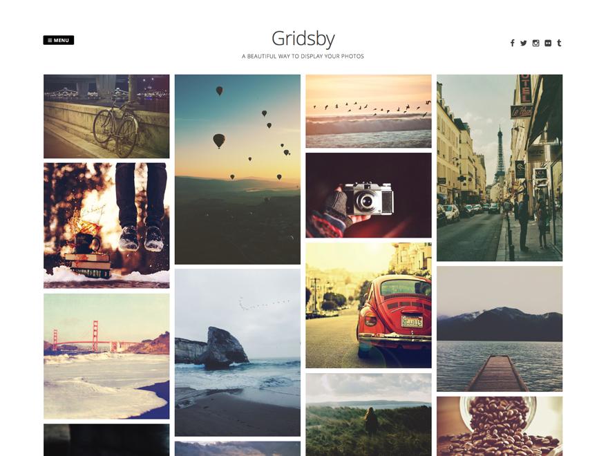 Тема-портфолио Gridsby