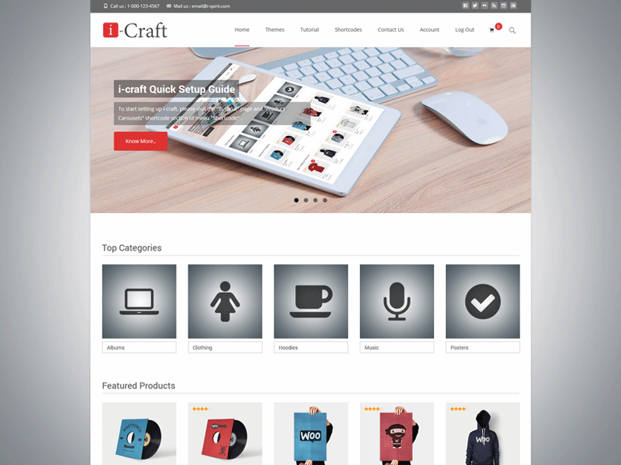 Тема для WooCommerce i-craft