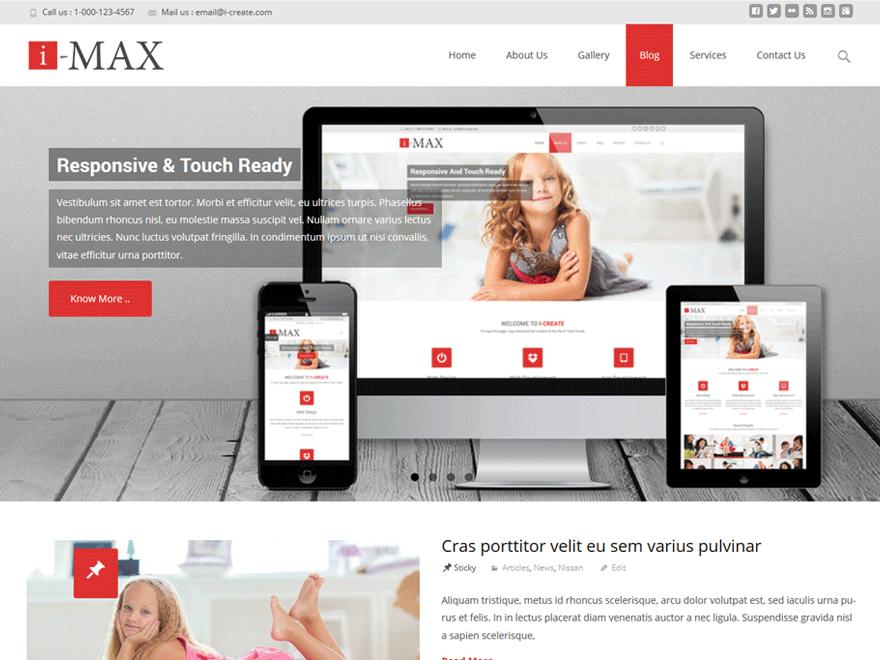 Адаптивная тема i-max