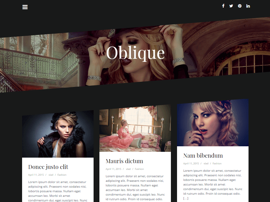 Тема Oblique для WordPress