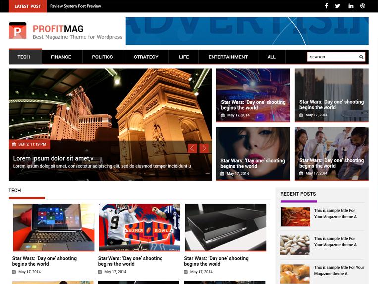 Журнальная тема ProfitMag