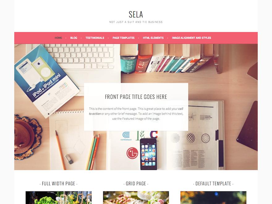 Бизнес-тема Sela для WordPress