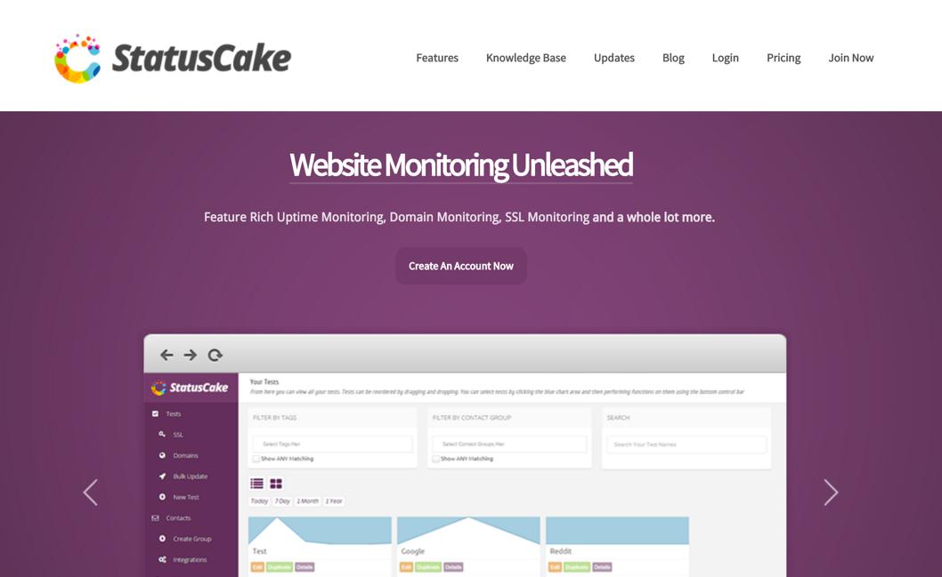 Сервис StatusCake для отслеживания доступности сайтов