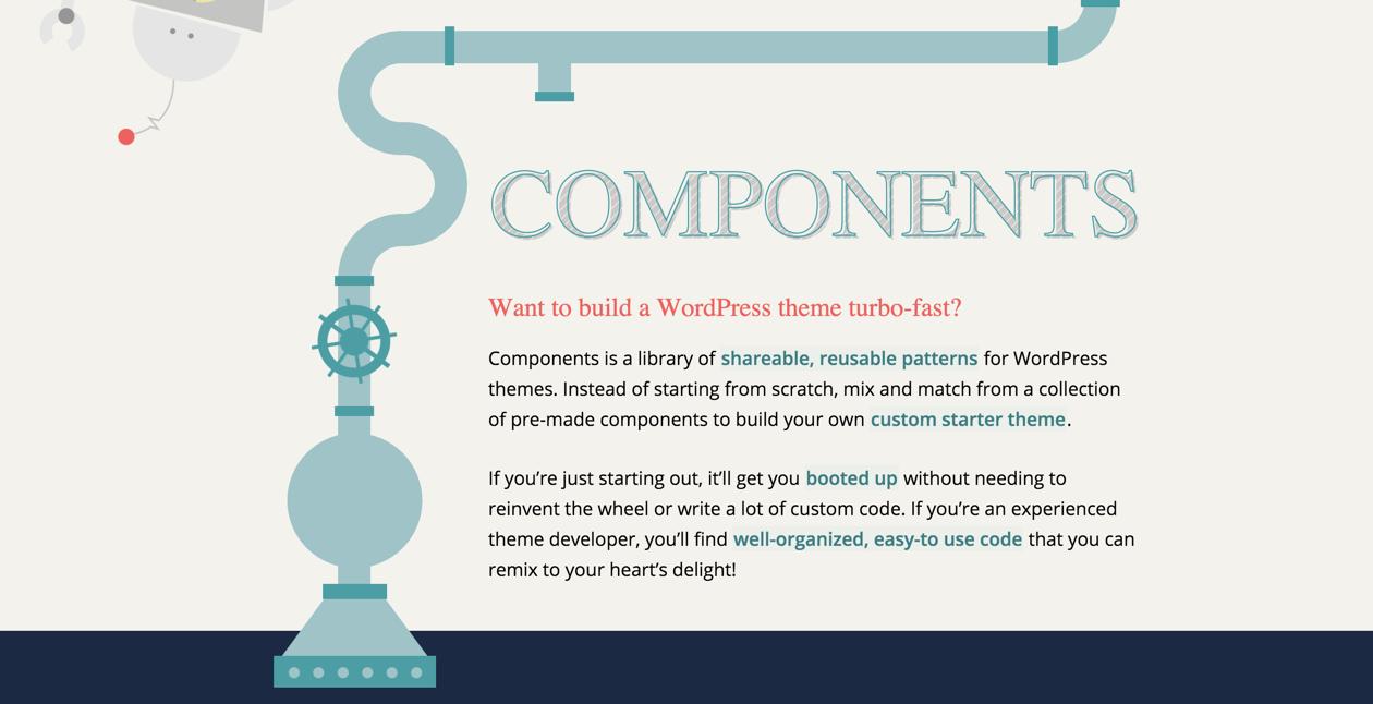 Сайт проекта Components для WordPress