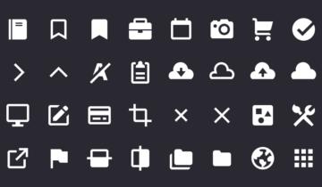 Набор векторых иконок Gridicons