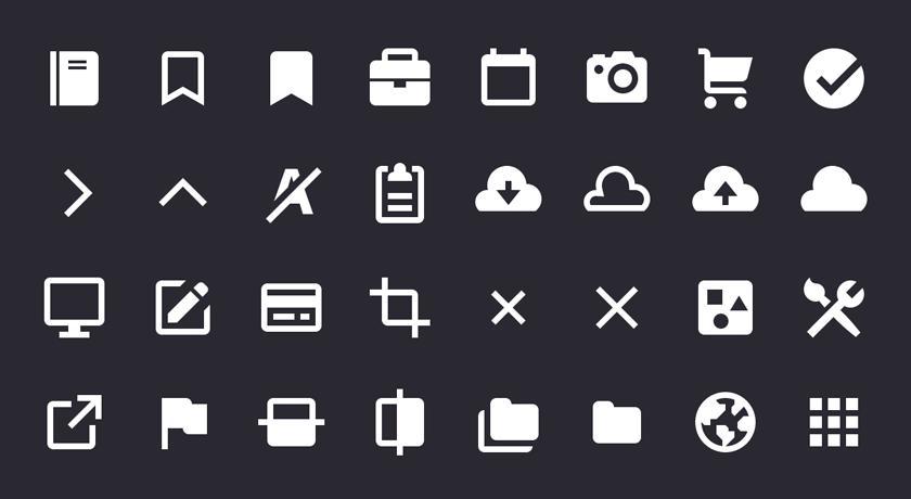 Набор векторных иконок Gridicons