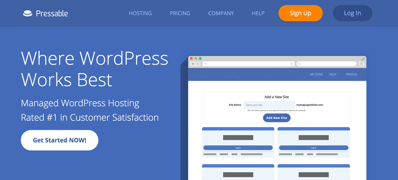 Сайт хостинг-компании Pressable