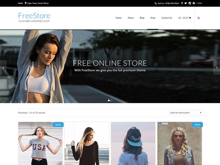 Тема для WooCommerce FreeStore