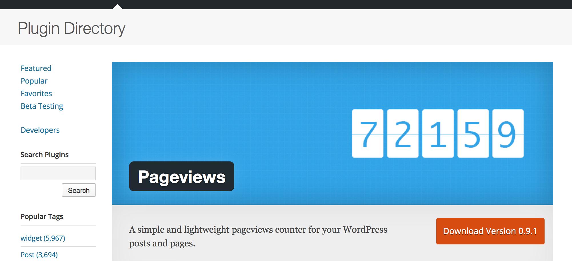Счетчик просмотров для WordPress