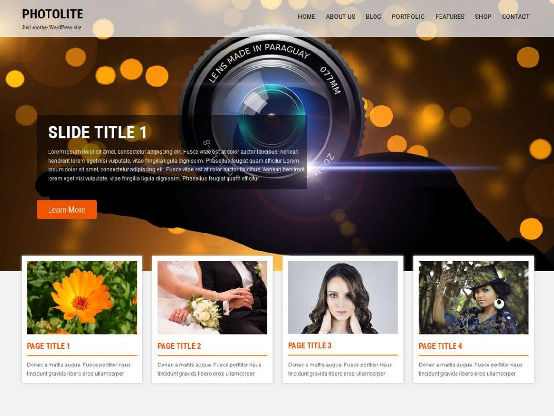 Тема для фотографов Photolite