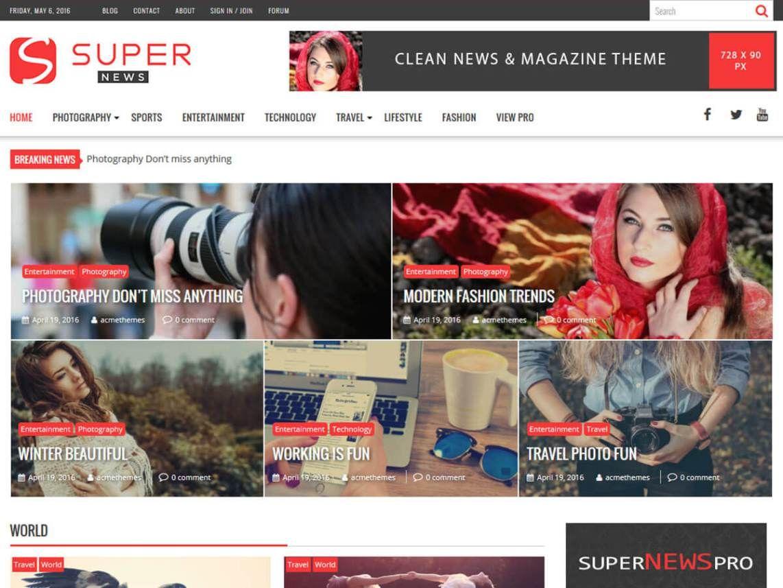 Журнальная тема SuperNews